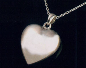 Sterling Silver Heart Urn Necklace