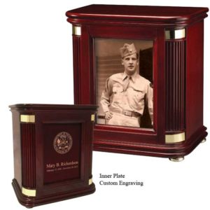 Picture Frame Chest, Custom Funeral Urn