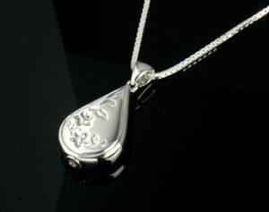 Sterling Silver Teardrop Urn Necklace