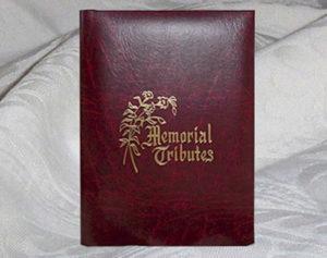 Tribute Register Book