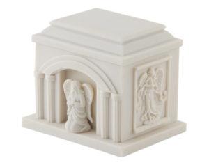 Large Angel White Resin Urn