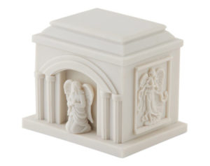• Small Angel White Resin Urn