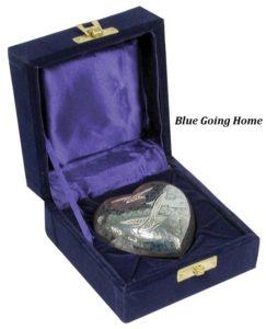 Keepsake Urn, Blue Going Home Heart