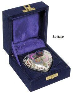 Keepsake Urn, Lattice Heart