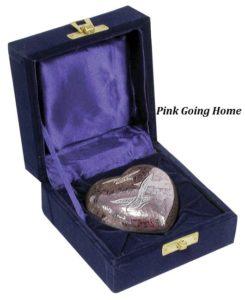 Keepsake Urn, Pink Going Home Heart