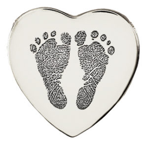 Baby Feet Heart Necklace