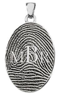 Fingerprint Monogram Necklace