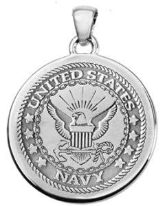 Round Military Emblem Necklace